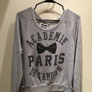 Cute Paris sweater with bow